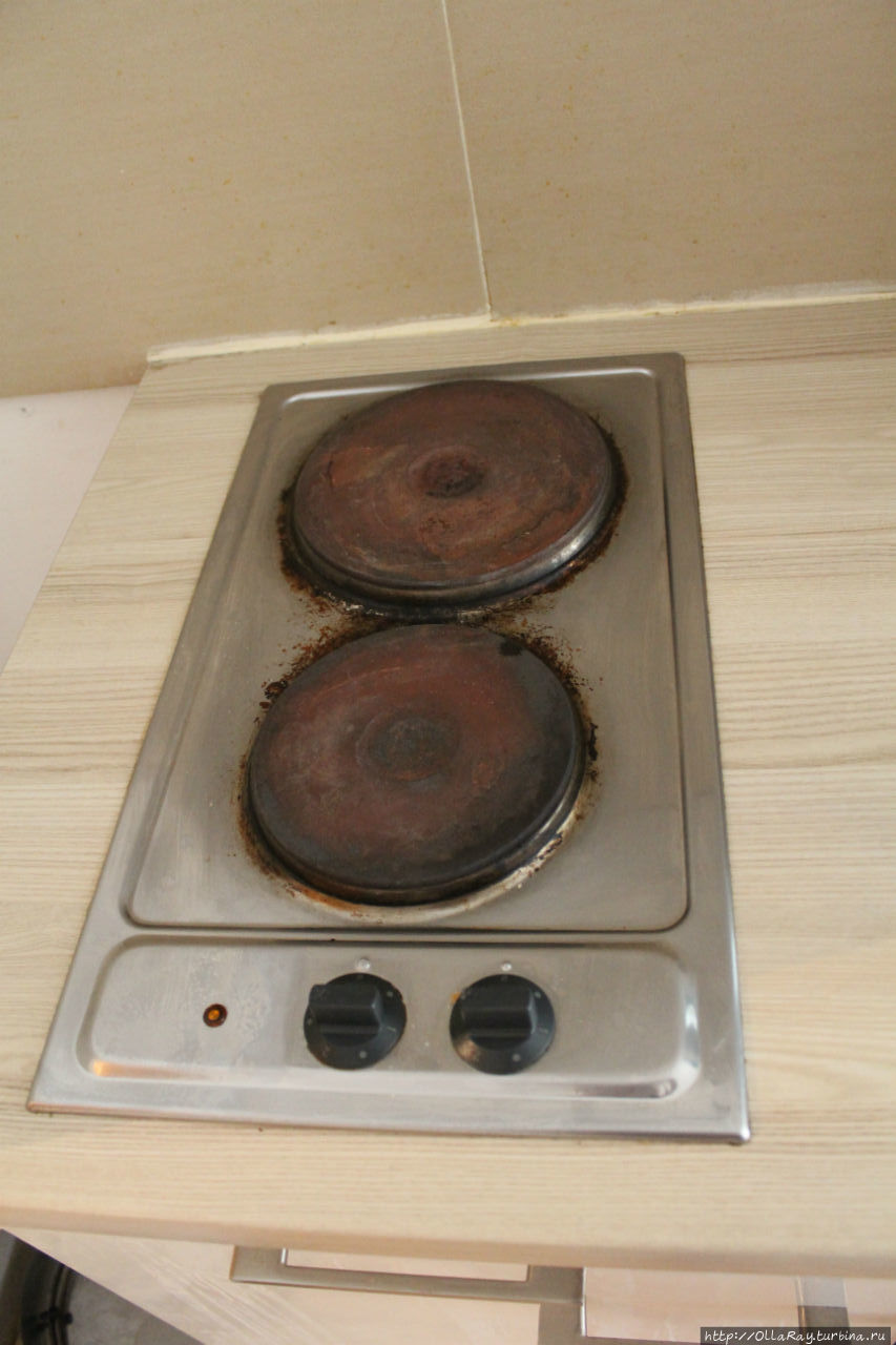 Плита после уборки