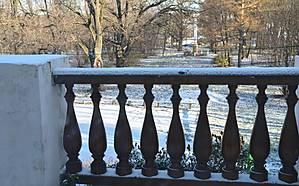 Вид на парк с крыльца усадьбы