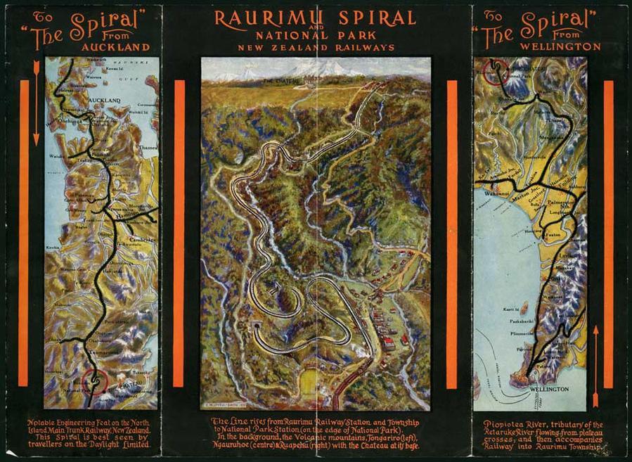 Постер времен строительства железной дороги. Картинка с сайта nzhistory.net.nz