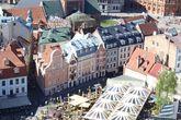 Нарядные домики в центре Старого города Риги.