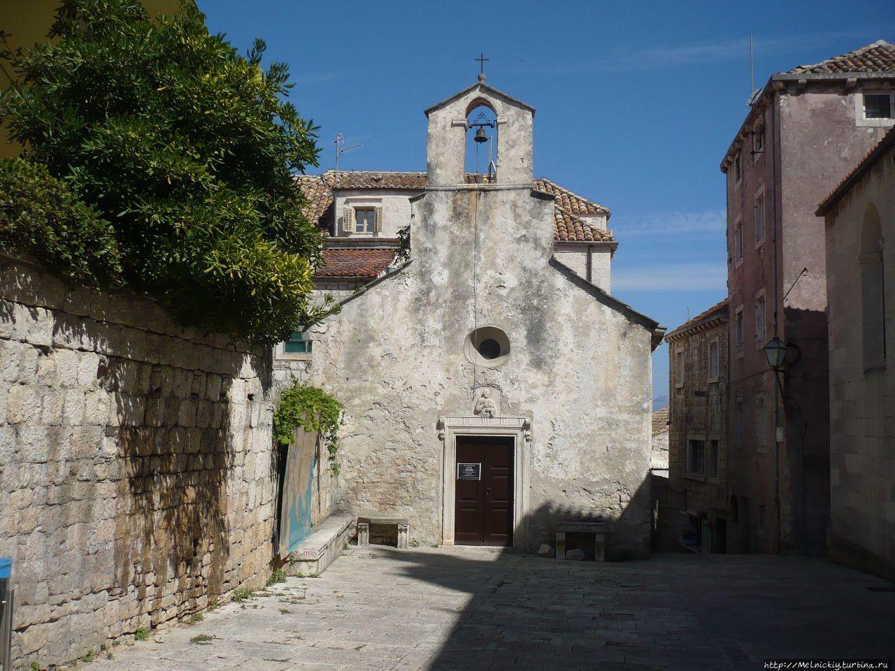 Церковь Святого Петра Корчула, остров Корчула, Хорватия