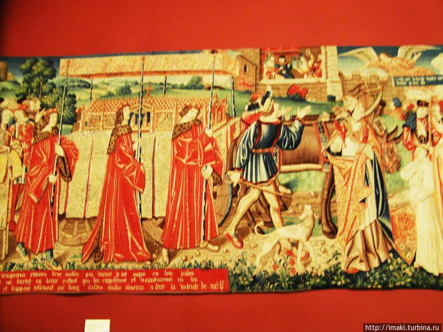 Гобелены в музее Клюни.
