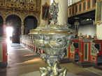 Городская церковь. Бронзовая купель 1615 г. работы самого знаменитого  после Микеланджело европейского скульптора — Адриана де Вриса