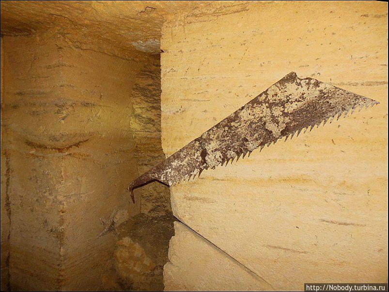 Такими вот пилами распиливали камень. Нерубайское, Украина