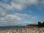 Сантандерский пляж Сардинеро, где отдыхают аристократы и не только...Песок отличный, море чистейшее