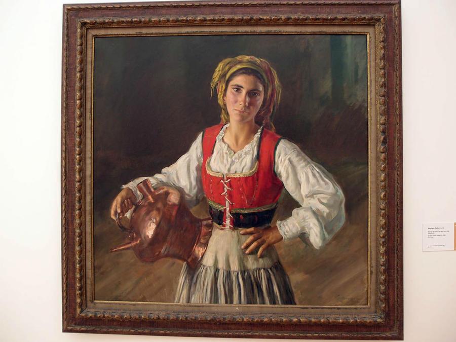 Работа португальского художника-портретиста Энрике Медина (уроженца Порту 1901- 1988 г.г), признанного Художником женской красоты