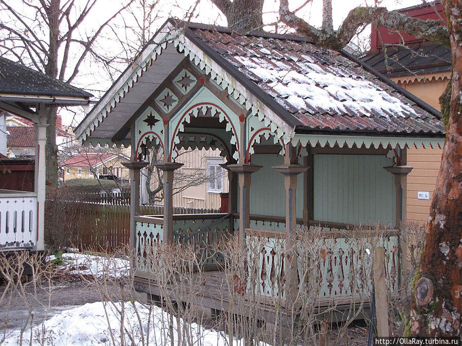 Беседка в садике. Квартал — музей  Гамла Линчёпинг.