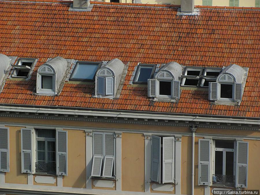 Вид на крыше.