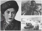 Зина Подольская. Во время боя (1942 год). Танк Т-34 Подольской мчит к Тернополю (1944).