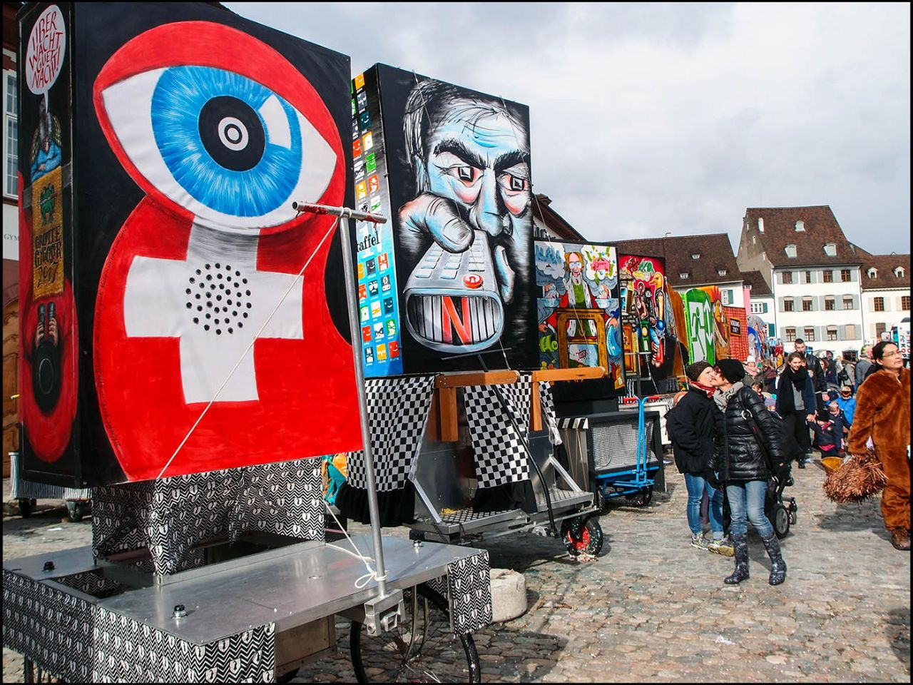 Фонари карнавального Базеля Базель, Швейцария
