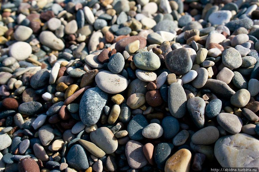 Здесь можно насобирать красивых камушков!