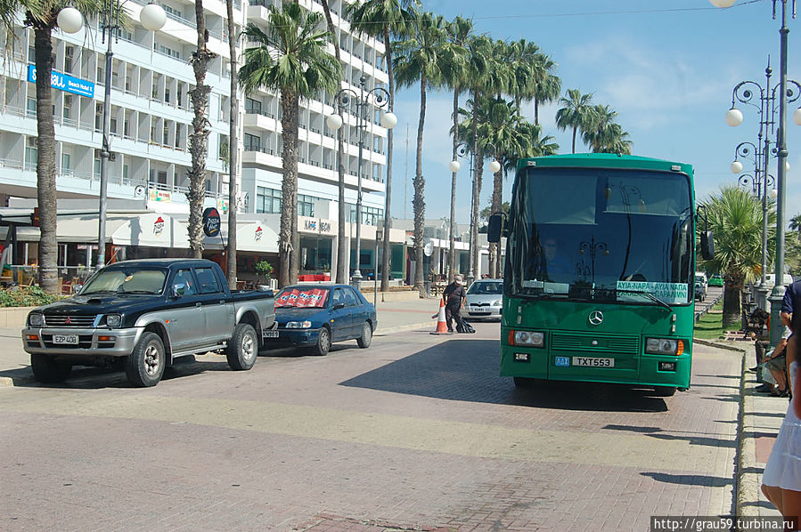 Автобус Ларнака — Айя-Напа — Паралимни