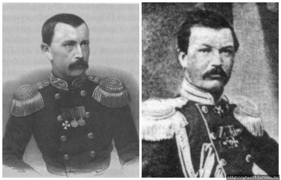 Адмиралы П.А.Карпов, И.А,Шестаков