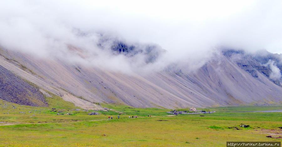 Жизнь викингов на исландском полуострове Стокснесс Хёфн, Исландия