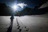 весовой контроль на леднике Арбуз.