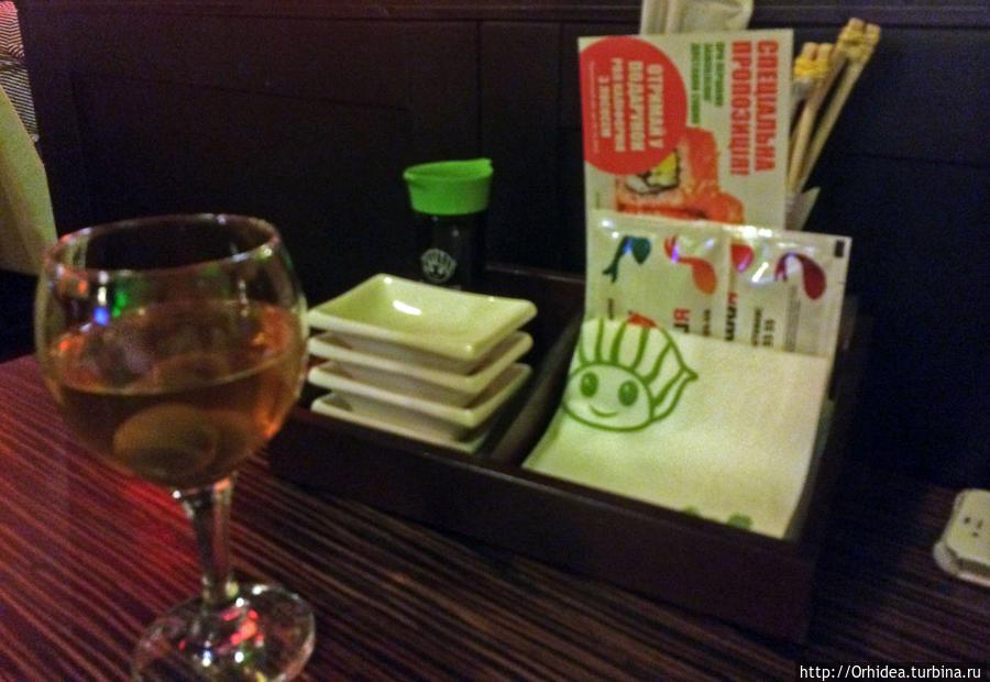 пока ждем суши — вино со сливами