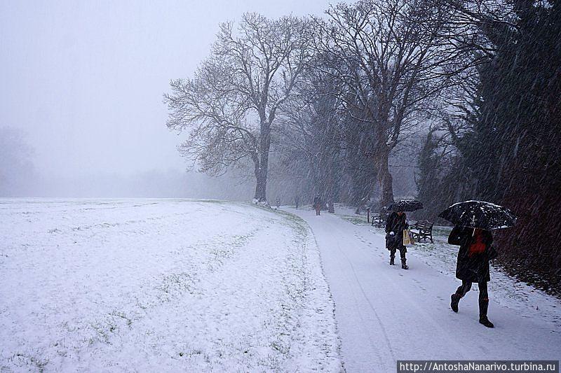 Падал дублинский снег Дублин, Ирландия
