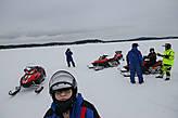 на льду озера