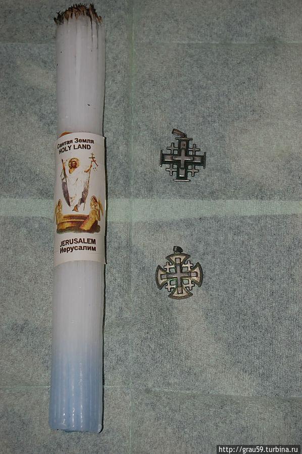 Так выглядят Иерусалимские свечи кресты паломника