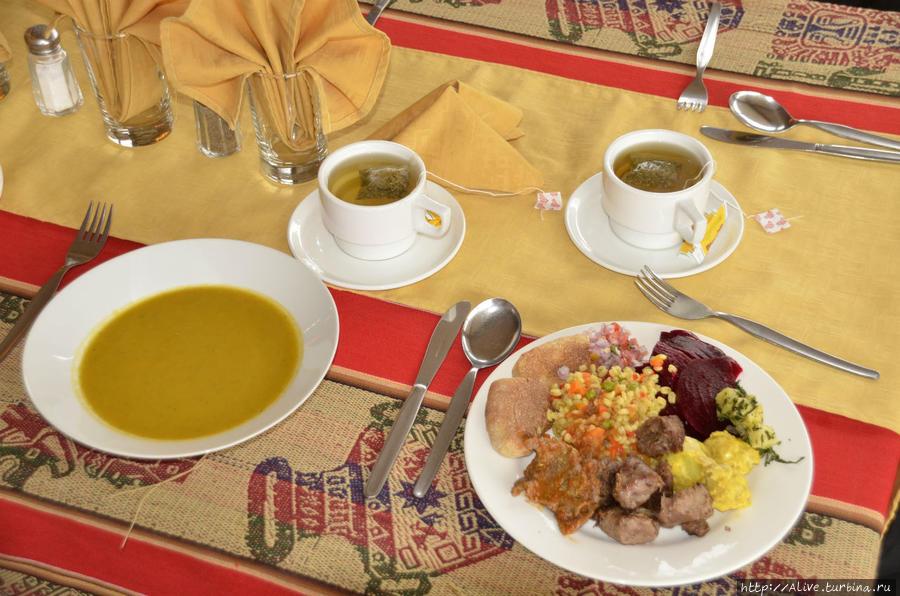 Солидное начало обеда в Сикуани