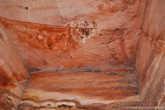 Причудливые слои красного песчаника.