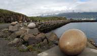 Коллекция каменных яиц птиц, гнездящихся в Исландии