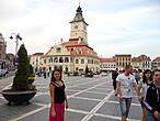 Центральная площадь и здание старинной ратуши.