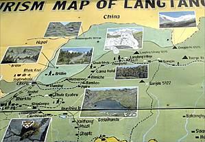 Маршрут, который предстоит нам пройти, — от селения Сябру Беси (на карте — Syabrubensi) через Лангтанг до Кьянгджин (Kyangjin) на высоте 3850 м недалеко от границы с Тибетом