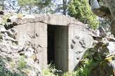 Орудийный дворик от финской артиллерийской позиции