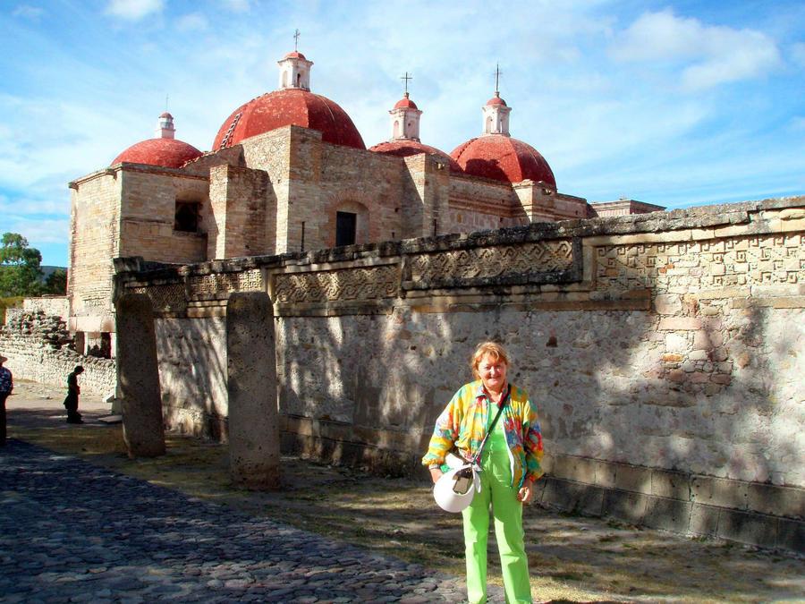 Я в Мексике! Узоры Митлы Сан-Пабло-Вилла-де-Митла, Мексика