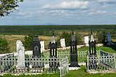 Чердынь. Собор Иоанна Богослова Богословского монастыря. Святоотеческие гробы. На горизонте — гора Полюд