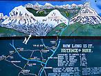 Чомронг находится на высоте вроде небольшой — всего 1950 метров. дальше предстояло достичь деревни  Синуа на высоте 2370 м, потом заночевать в Бамбу (2190 м), а оттуда через Дован (2505 м) дойти до Хималаи (2900 м).