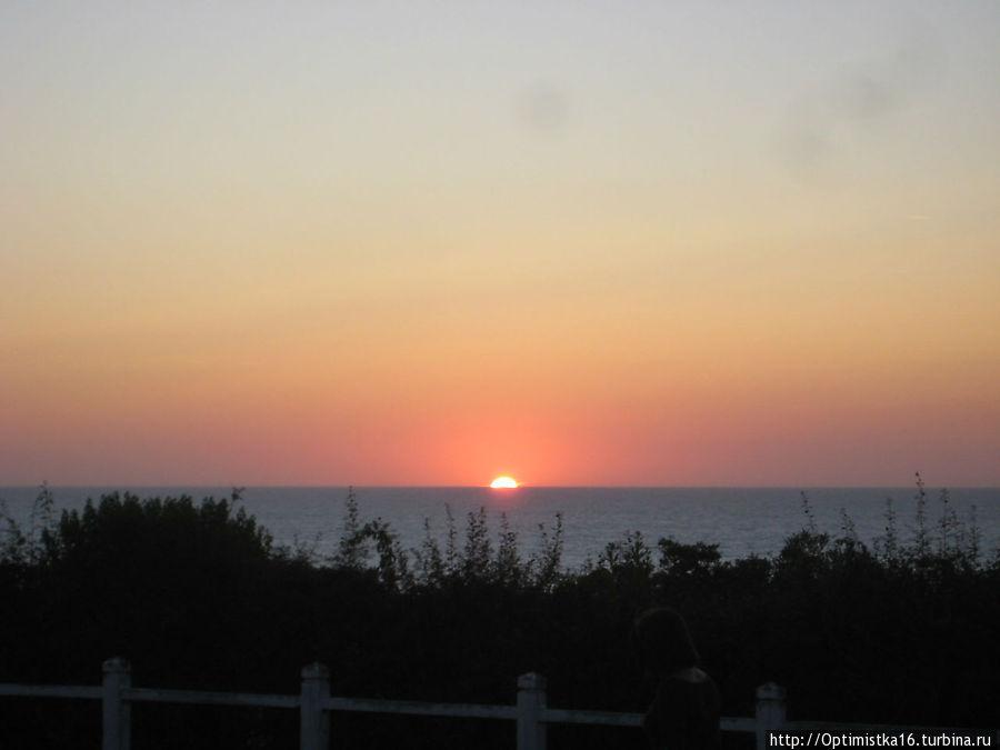 Эти закаты я снимала с лужайки перед нашими окнами