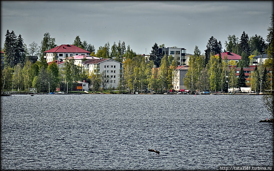 Састамала — город на озере Састамала, Финляндия