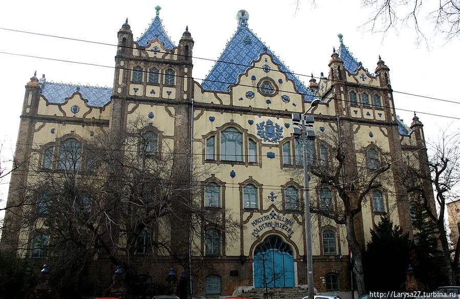Геологический институт, архитектор Э.Лехнер, 1900 г. Будапешт, Венгрия