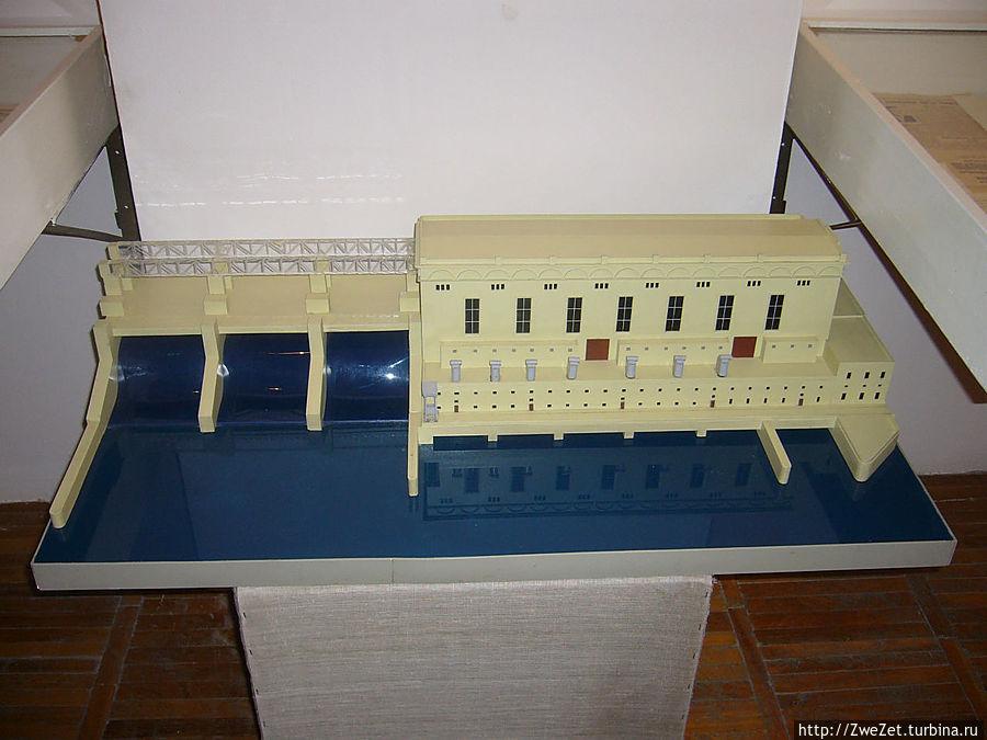 макет Верхнесвирской ГЭС