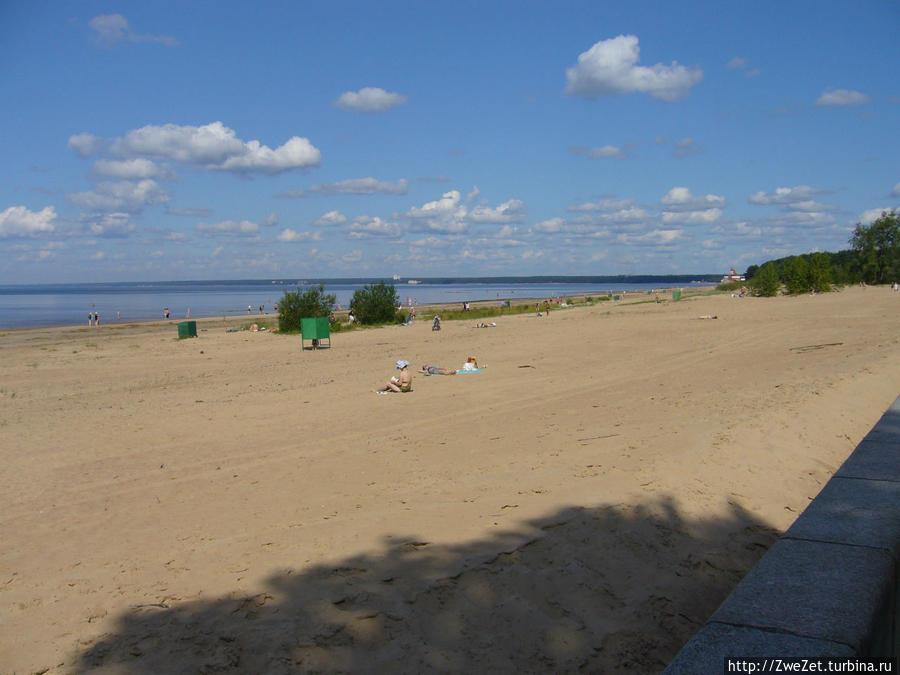 пляж санатория Сестрорецкий Курорт