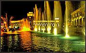 Цветные поющие фонтаны