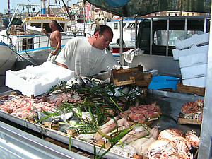 Порт. Свежая рыбка выгружена