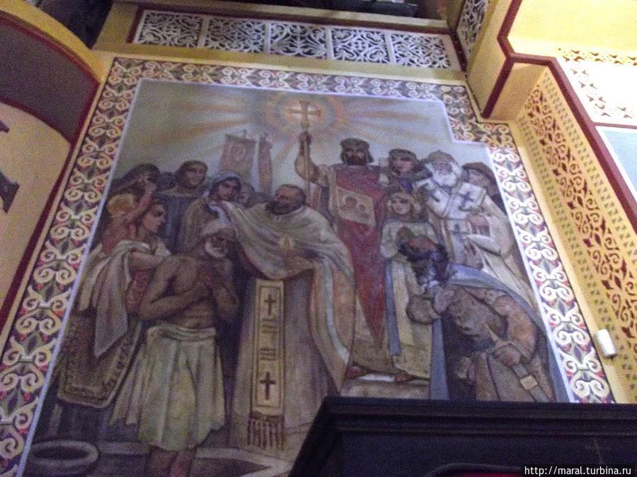Князь Борис I в 865 году обратил  болгар в православную веру