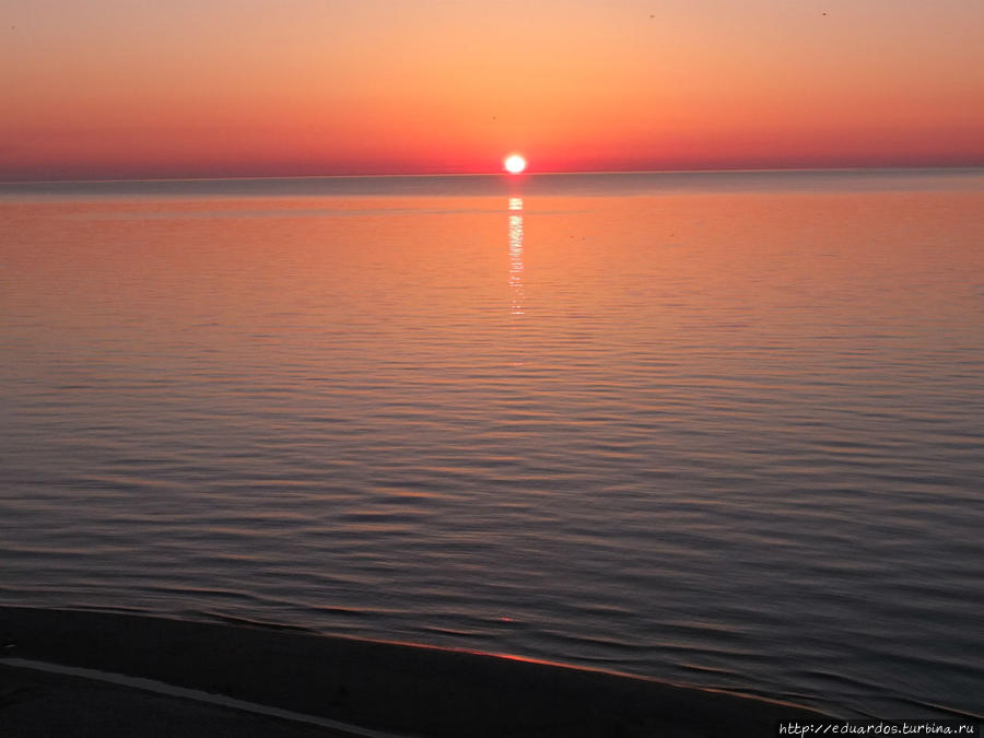 Когда горит вода в Балтийском море Светлогорск, Россия
