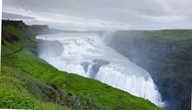 Панорама водопада Гюдльфосс