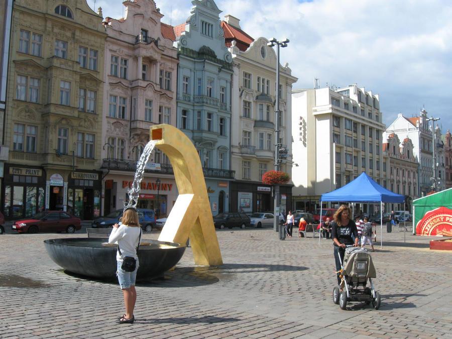 Непонятные чудища — фонтанища Пльзень, Чехия
