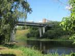 Новый мост через Волгу. Наш обратный маршрут в Ярославль проходит теперь вдоль верховьев реки Волга.