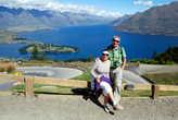 Вид на озеро Вакатипу с вершины горы Ben Lomond