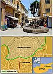 На карте видна граница турецкой Никосии.  Фото сделано в том месте, где заканчивается улица Ледра.