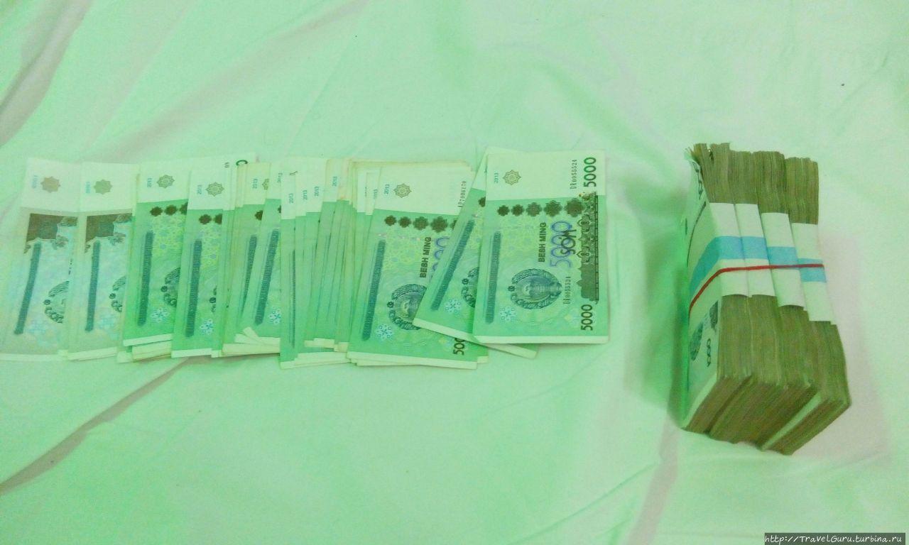 100$ в узбекских сумах, г