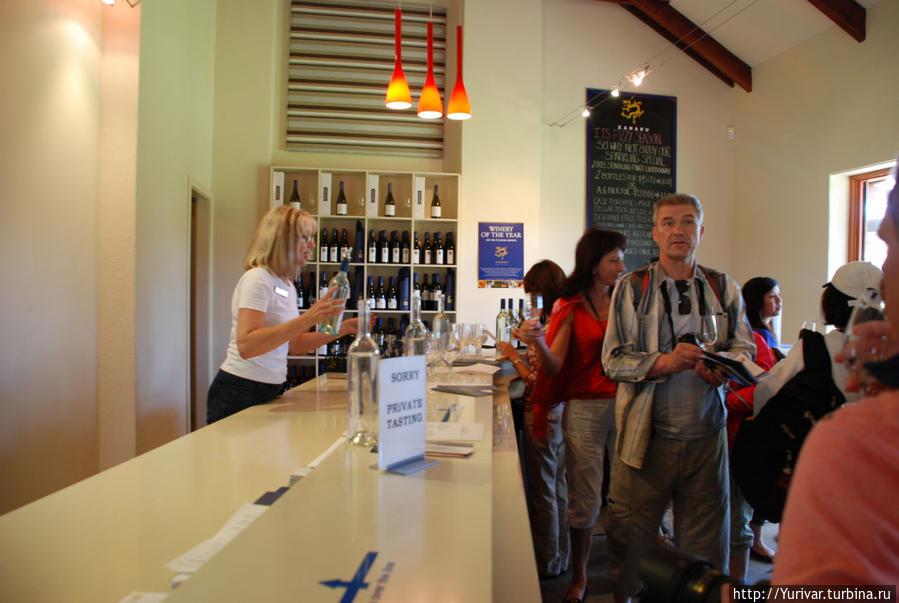 На виноферме в Маргарет Ривер хорошая дегустация Маргарет-Ривер, Австралия