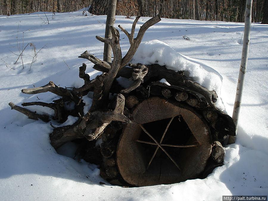 Домики-норки уютно устроились в сугробах