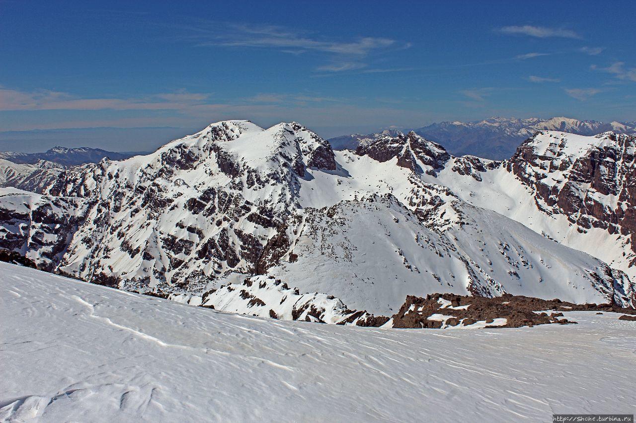 Вершина Тубкаль Гора Тубкаль (4167м), Марокко